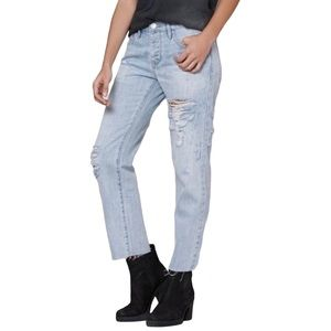 PacSun Distressed Boyfriend Ankle Cropped Jeans